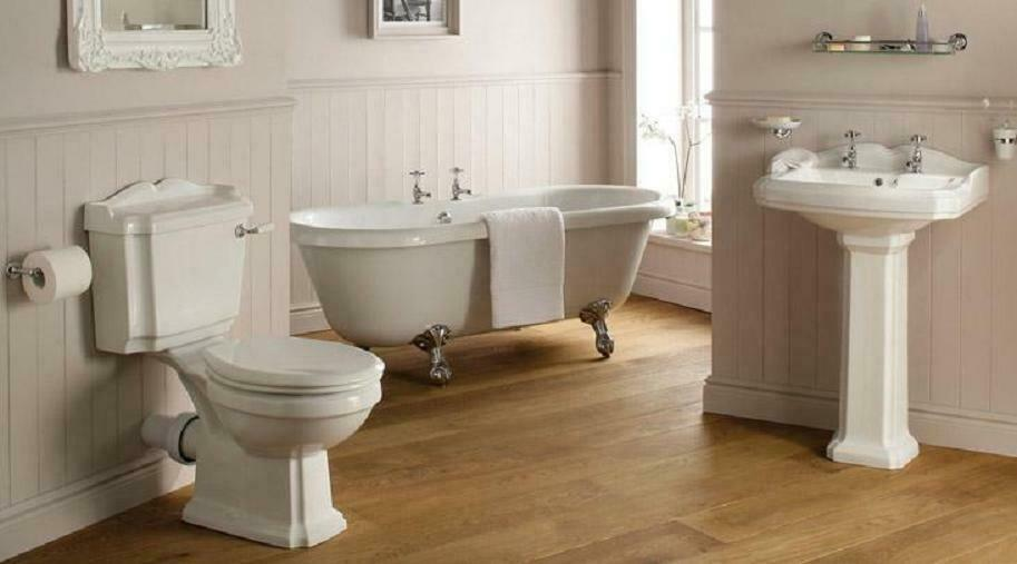 Traditional victorian edwardian style bathroom suite roll for Stylish bathroom suites