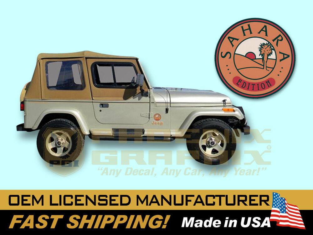 1992 1993 1994 Jeep Wrangler Sahara Edition Yj Decals