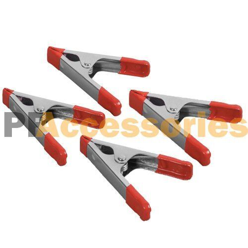 Inch metal spring clamps w rubber tips tool pcs