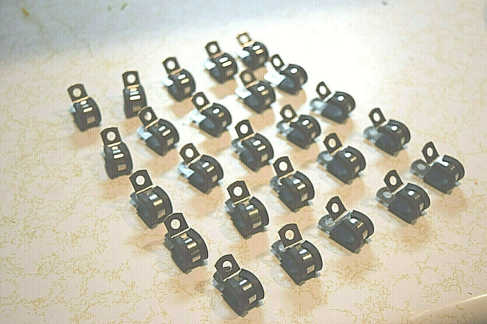 Brake Line Clamps : Bag of quot line loop clamps rubber cushioned p clips