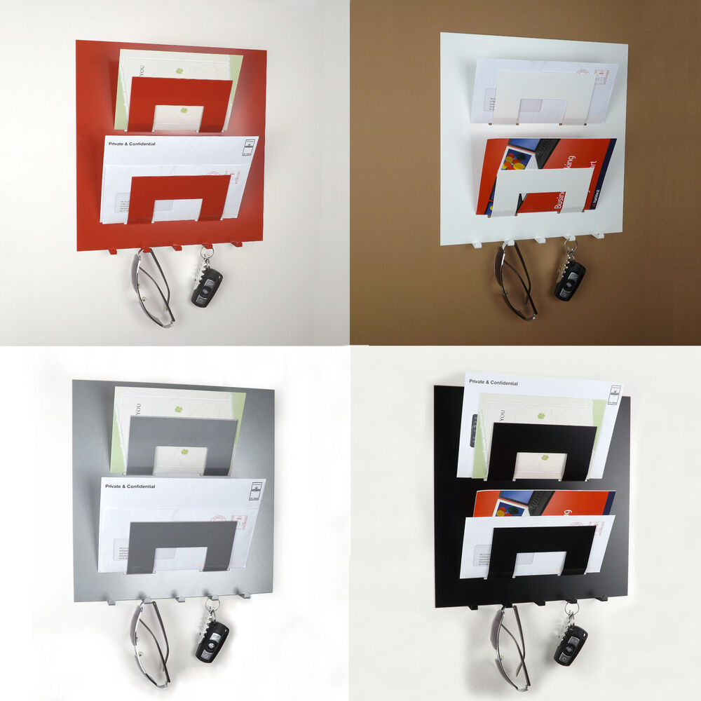 Letter rack and key holder by the metal house ebay - Letter rack and key holder ...
