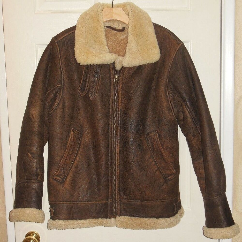 Women S Or Men S Distressed Brown Leather Bomber Jacket