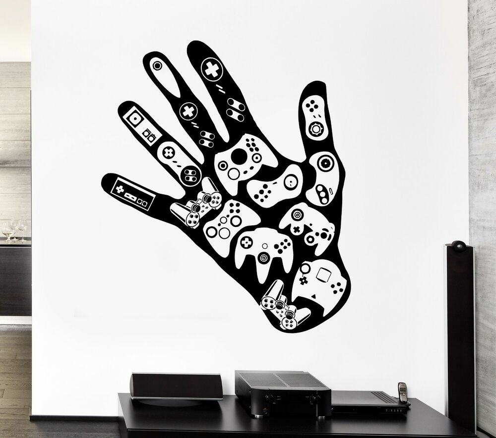Gamer Wall Decal Video Game Play Room Boys Vinyl Stickers