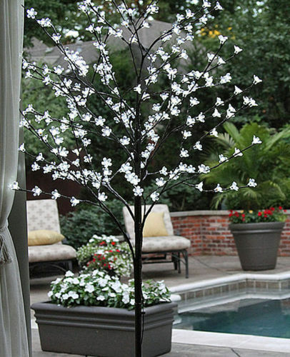 5ft 6ft Blue White Pink LED Blossom Bonsai Tree Outdoor