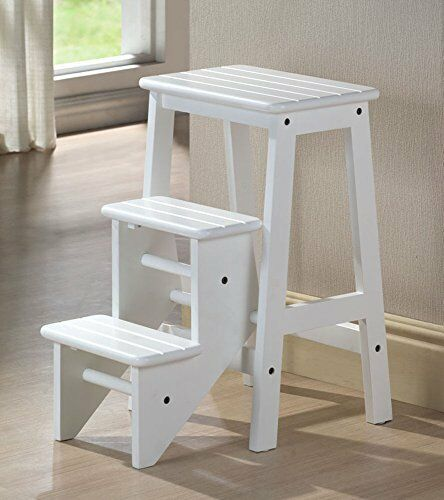 Folding Classic Solid Wooden 24 Inches Kitchen Step Stool