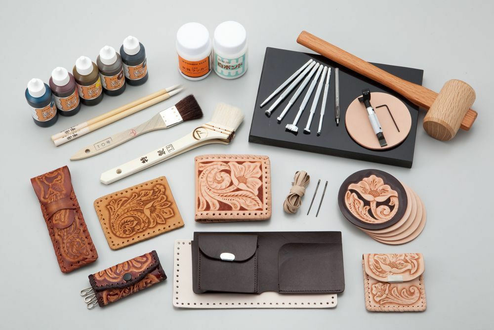 Kyoshin elle leathercraft leather hand lacing set for Wholesale leather craft supplies