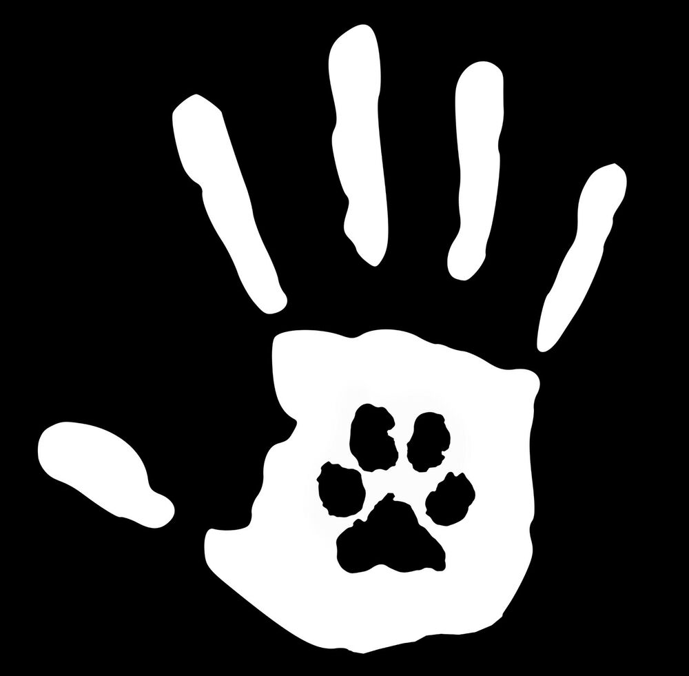 Hand Print With Paw Print Dog Cat Pet Rescue 6 2 Inch
