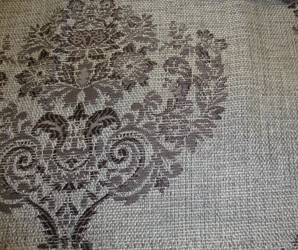 55 wide platinum damask metallic sparkle upholstery for Upholstery fabric by the yard