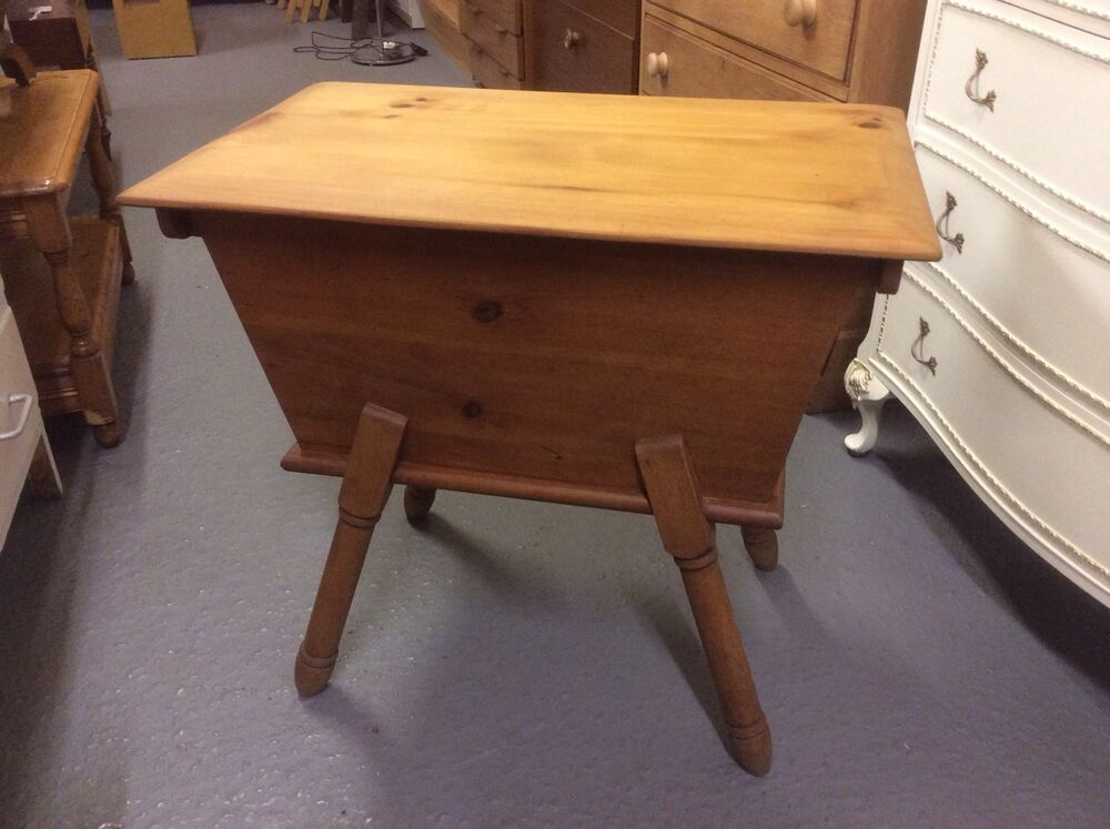Vintage sewing box antique pine quirky coffee table for Coffee tables quirky