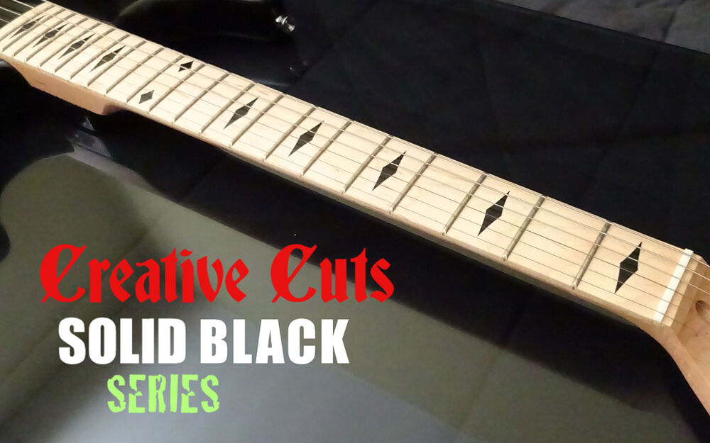 Diamond Black Fretboard Markers Vinyl Inlay Sticker Decals