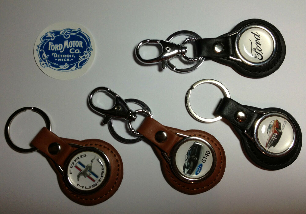 High Quality Ford Motor Company Leather Key Rings Free