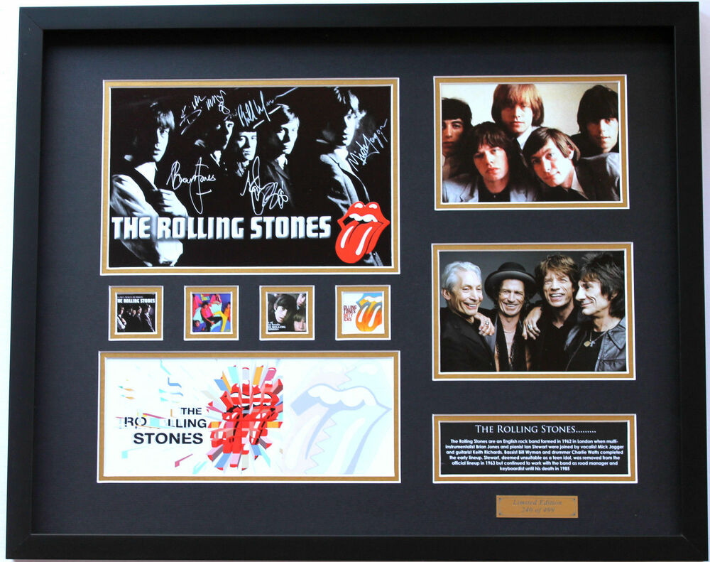 New The Rolling Stones Signed Limited Edition Memorabilia