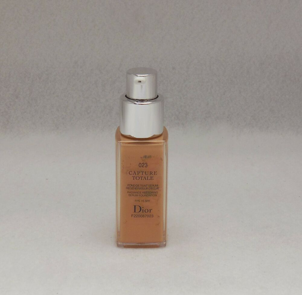 dior capture totale restoring foundation promo size 20ml shade 023 new t ebay. Black Bedroom Furniture Sets. Home Design Ideas