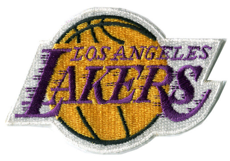"LOS ANGELES LAKERS NBA BASKETBALL 3.75"" TEAM LOGO PATCH"