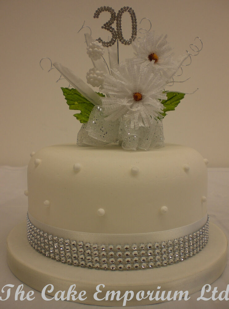 Cake Decorating Flowers Uk : CAKE TOPPER FLOWER BURST DIAMANTE BIRTHDAY & ANNIVERSARY ...