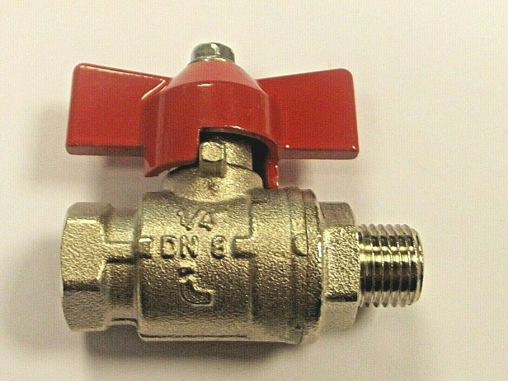 Industrial Lever Ball Valve End : T handle ball valves red bsp lever