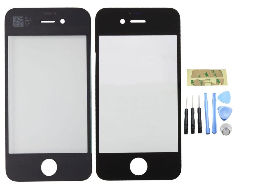 iphone 4 glass replacement kit genuine glass replacement for black iphone 4 4s front 1891