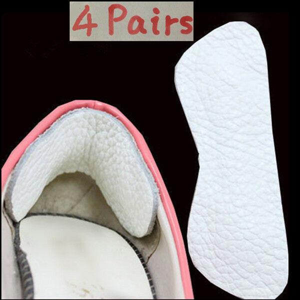 Uk 4 Pairs Suede Leather Heel Grips Shoe Boot Pad