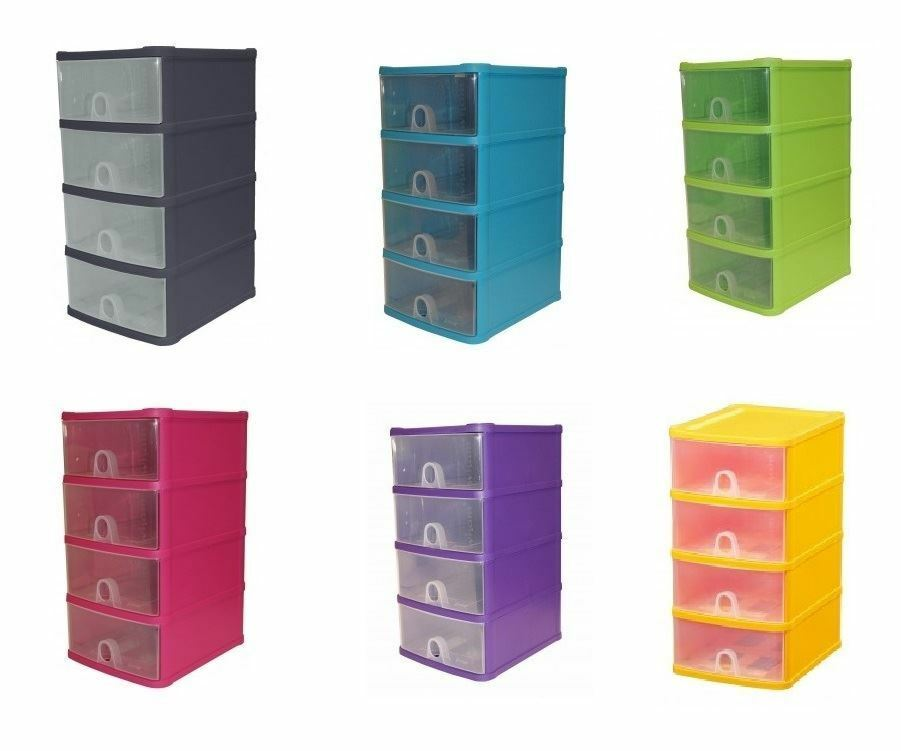 Handy 4 Drawer Tower Storage Unit Pull Out Draws A5