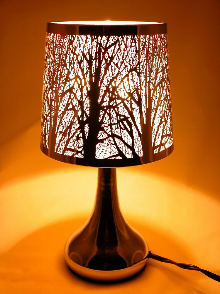 Stainless Steel Table Touch Lamp Tree 12 6 Quot White