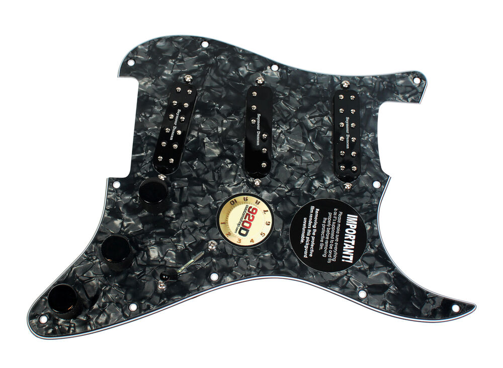 fender stratocaster strat loaded pickguard duncan everything axe pickups bp bk ebay. Black Bedroom Furniture Sets. Home Design Ideas