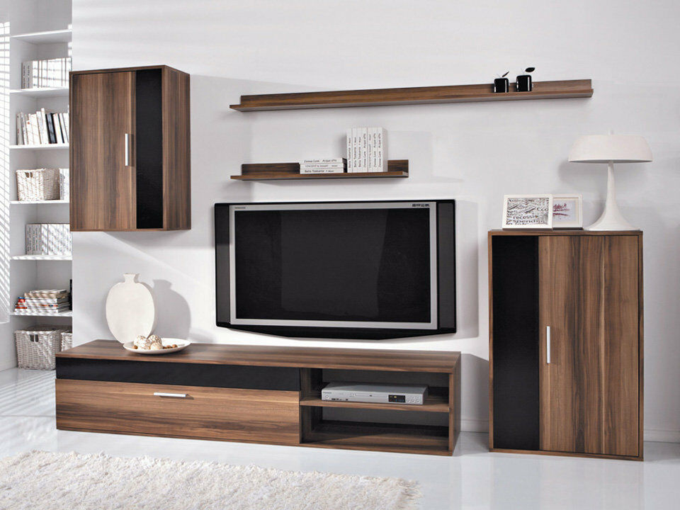 Living Room Furniture Set Tv Unit Cabinet Stand Cupboard Wall Shelves New Modern Ebay
