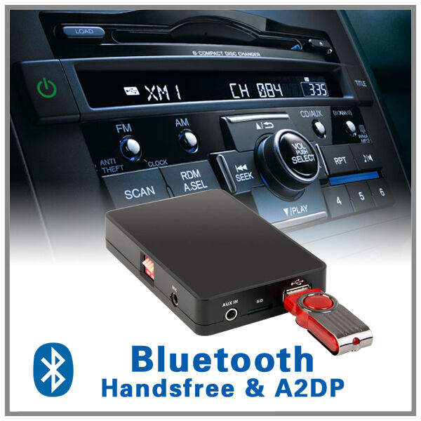 Car Bluetooth Handsfree A2dp Mp3 Cd Changer Adapter Honda