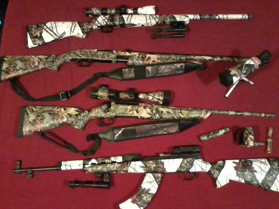 Rifle Mossy Oak Duck Blind Camo Skin Cover Kit Hunting