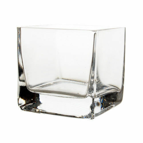 Bulk Wholesale 3 Quot Clear Glass Square Candle Holder Vase 2