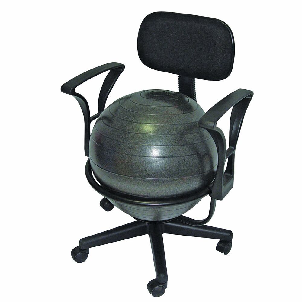 cando metal mobile inflatable ball stabilizer chair with arms 30 1791 new ebay. Black Bedroom Furniture Sets. Home Design Ideas