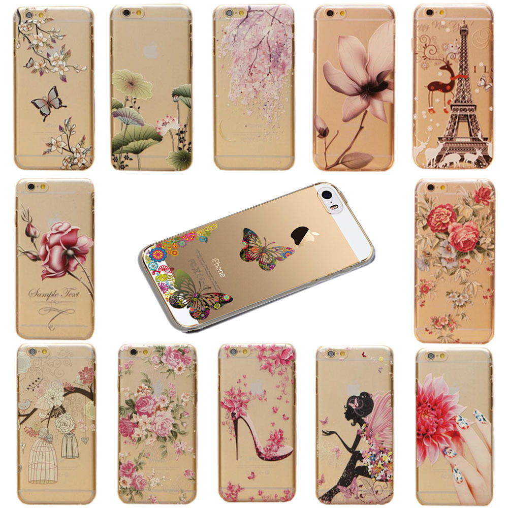 Case Design ebay phone cases : ... Flower Butterfly Pattern Phone Case Cover For iPhone 5/5S 5C 6 : eBay