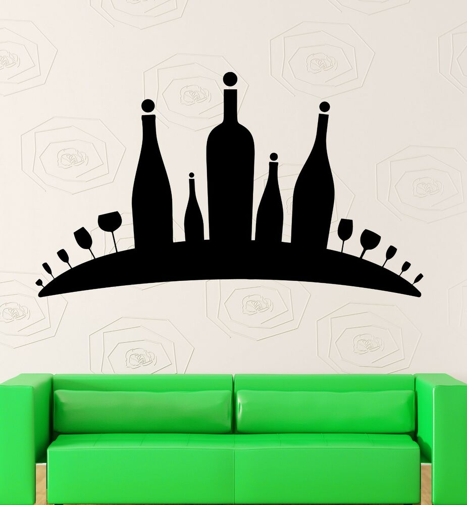 Wall Decal Alcohol Wine Bar Restaurant Kitchen Drink Vinyl