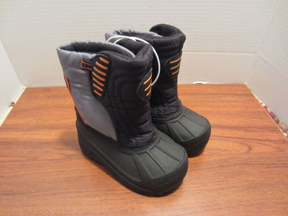 toddler boys size 7 rubber winter snow boots new
