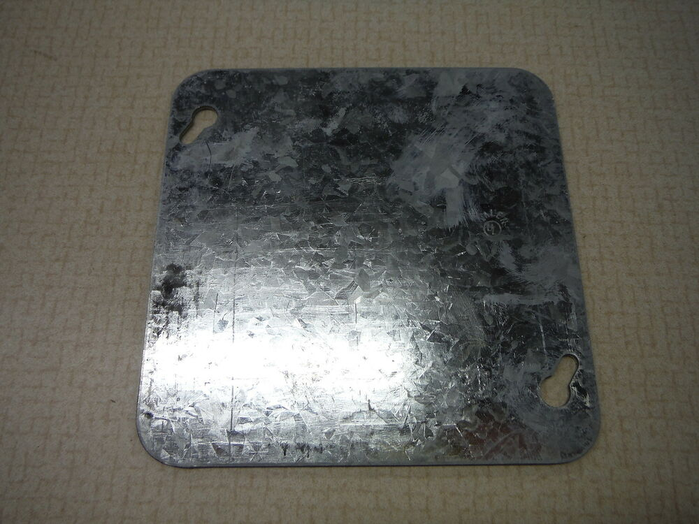 Galvanized Junction Box Cover Blank Ebay
