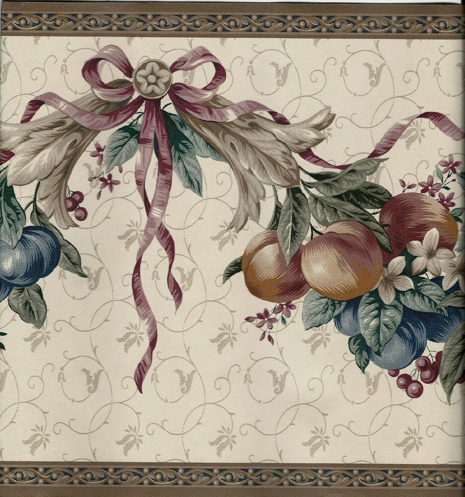 victorian fruit swag wallpaper border ebay