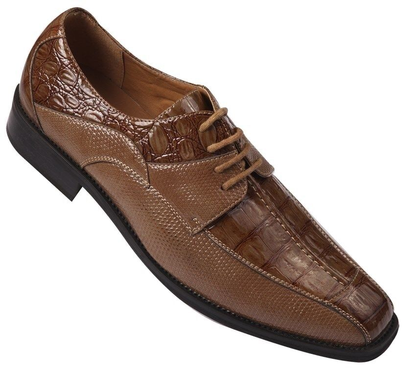 oxfords faux leather embossed s dress shoes 5747