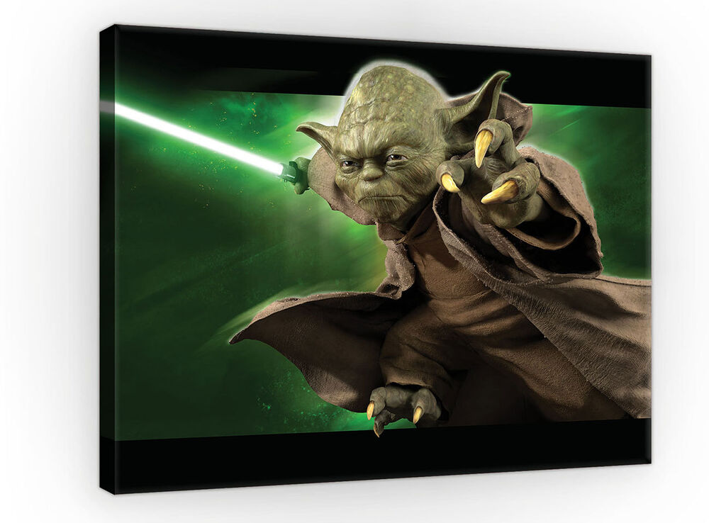leinwandbild wandbild bilder wandbilder star wars yoda meister yoda 3fx726o4 ebay. Black Bedroom Furniture Sets. Home Design Ideas