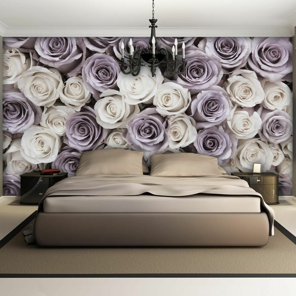 wandbild fototapete fototapeten tapete tapeten rosen rosa blume blumen 3fx1626p4 ebay. Black Bedroom Furniture Sets. Home Design Ideas