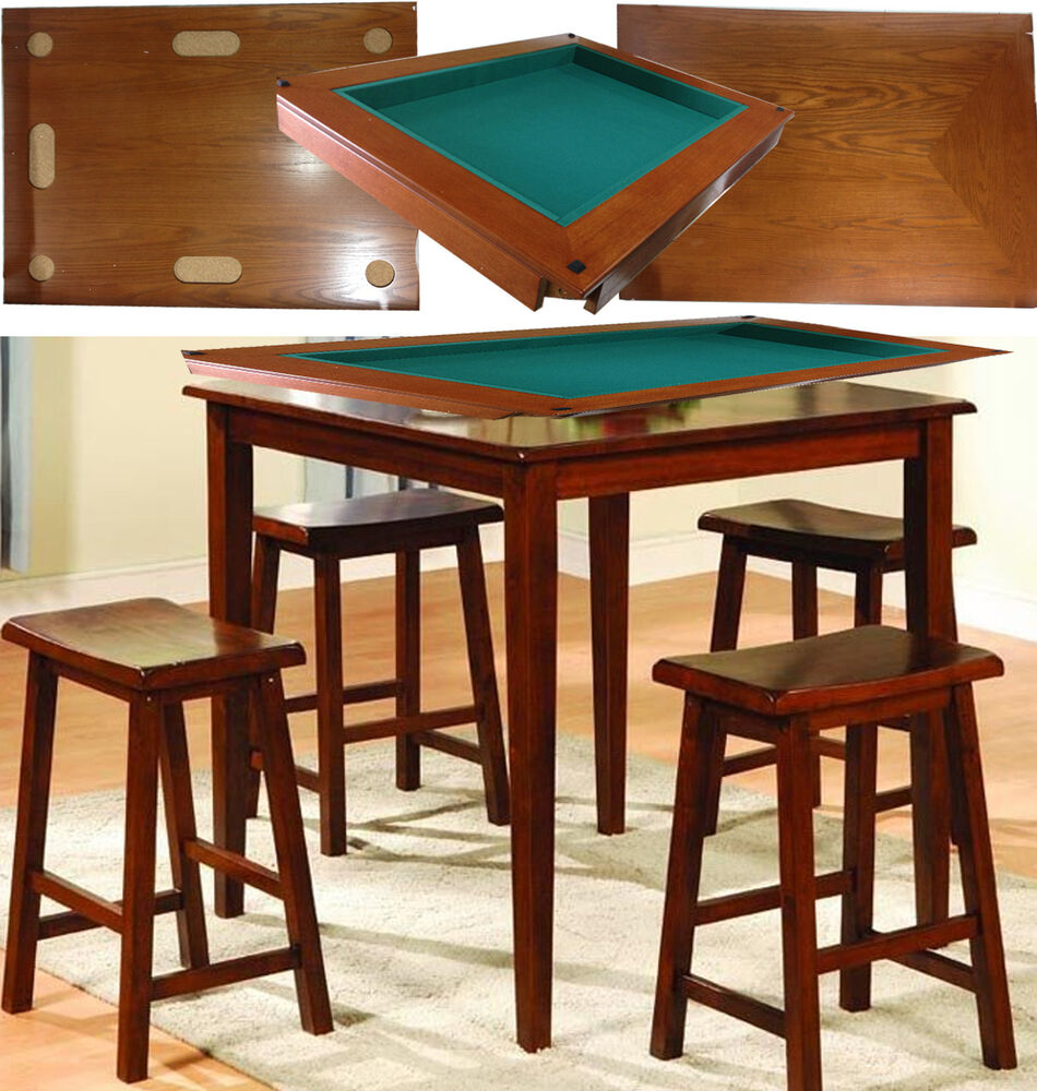 Bar Stools And Tables: Harvard 5 Piece Family Game Table Square High Pub Set Bar