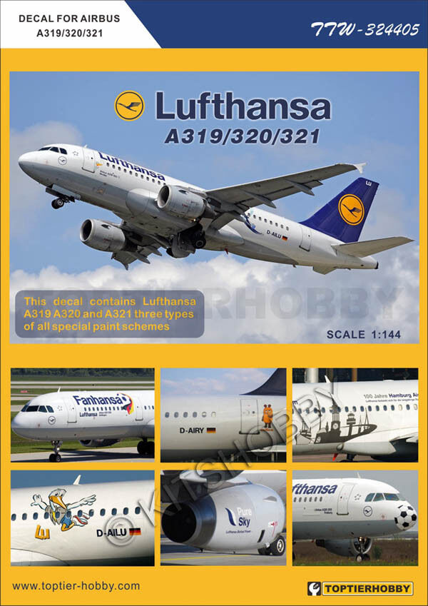 144 Best Images About Spa Decor On Pinterest: TOPTIERHOBBY Decal 1/144 Airbus A319/A320/A321