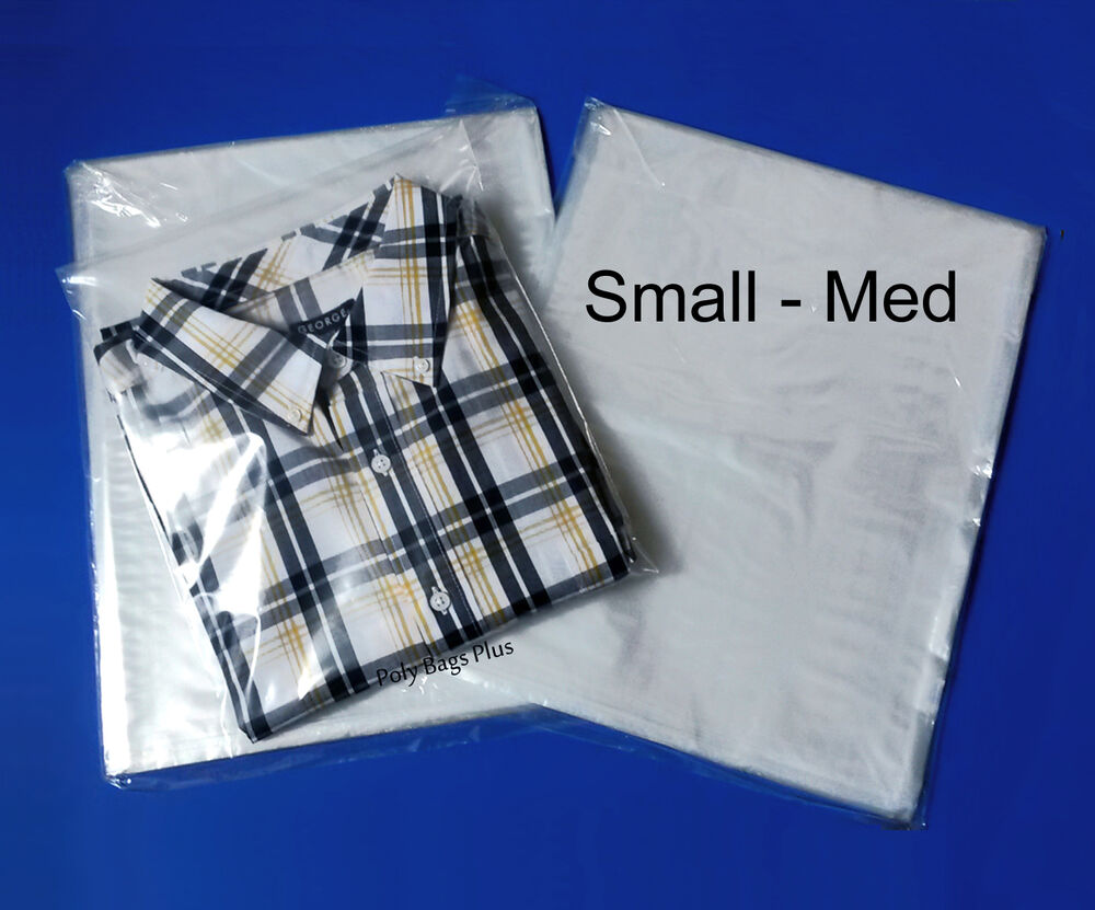1 mil clear 9x12 poly bags layflat open top plastic t for Clear plastic dress shirt bags