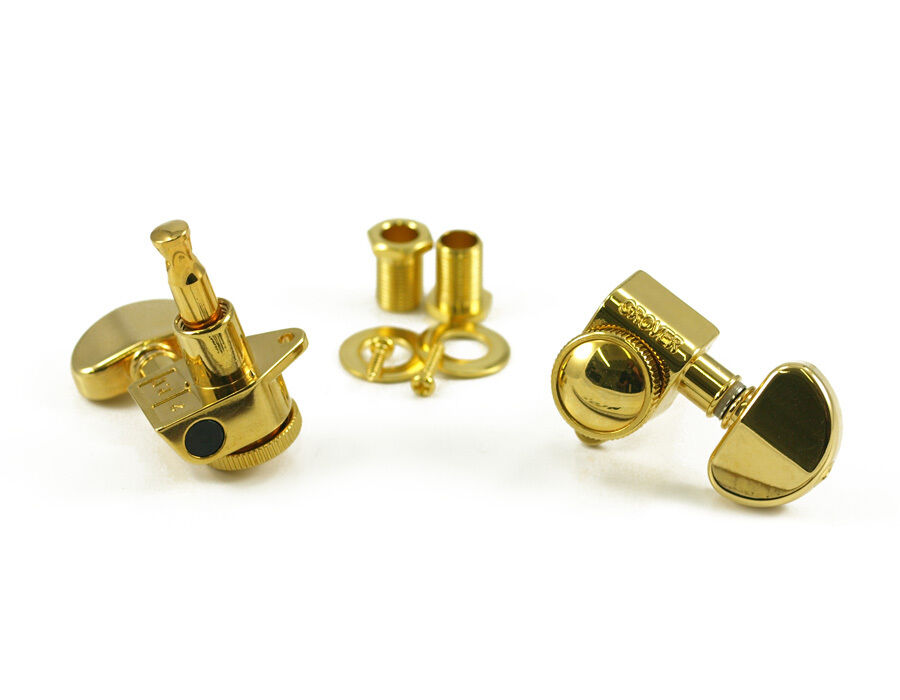 genuine grover 502g roto grip locking rotomatic 3x3 tuners gold ebay. Black Bedroom Furniture Sets. Home Design Ideas
