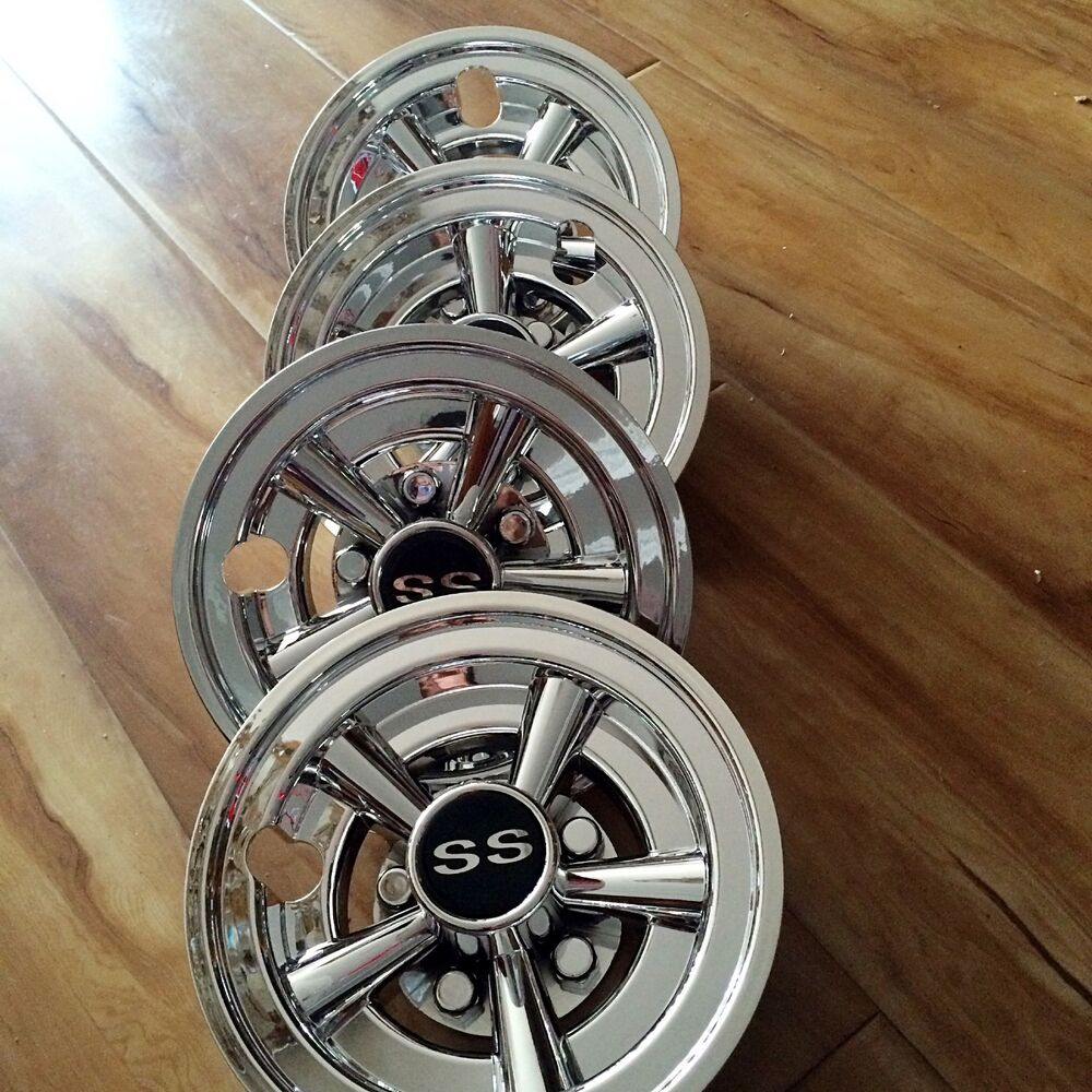 4 8 Quot Ss Chrome Universal Golf Cart Hub Caps Wheel Covers