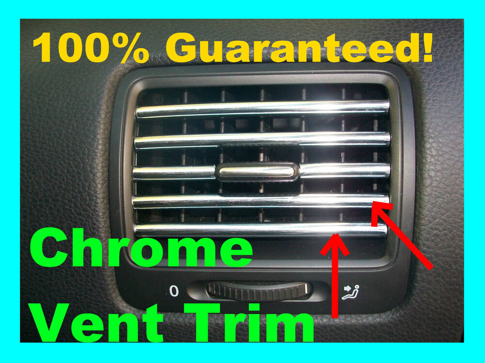 dress up molding interior chrome ac vent trim kit fits silverado sierra ebay. Black Bedroom Furniture Sets. Home Design Ideas