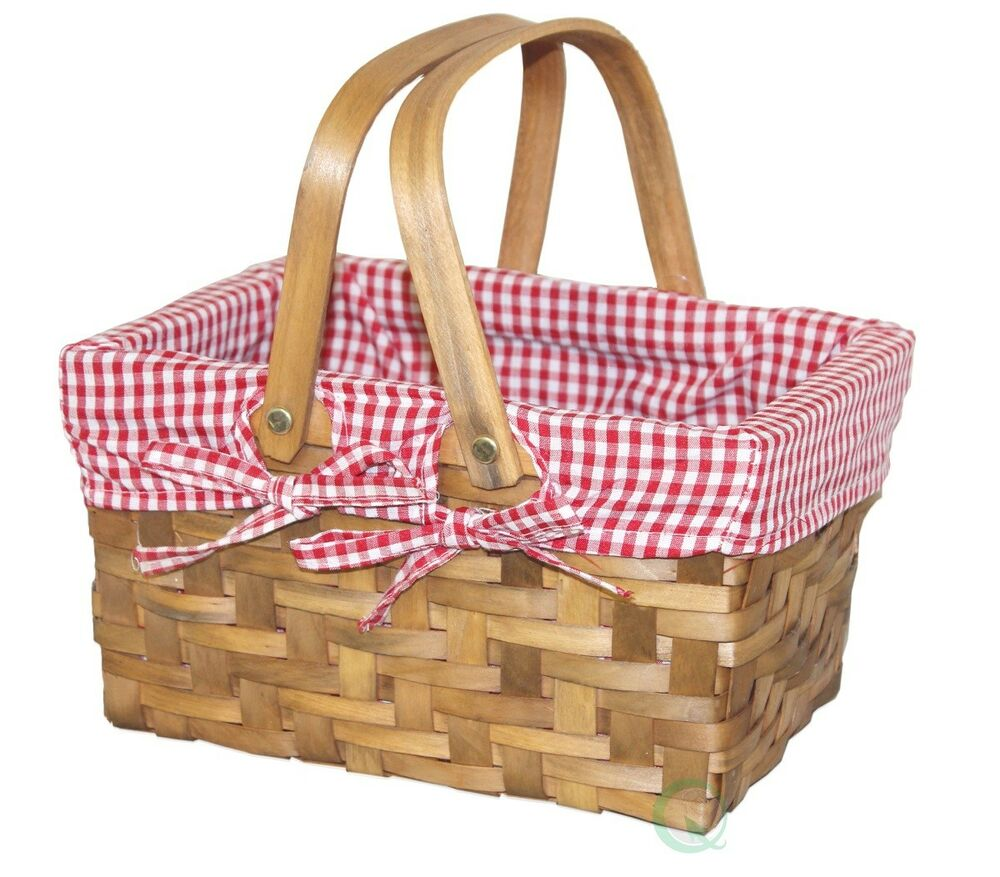 New Vintiquewise Small Rectangular Basket Lined With