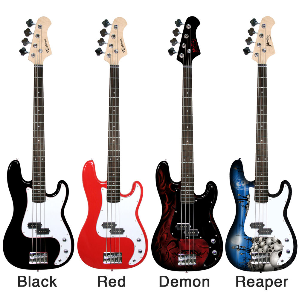jaxville rockburn pb bass electric guitar packages amp lead beginner starter ebay. Black Bedroom Furniture Sets. Home Design Ideas
