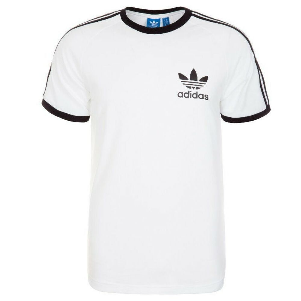 Adidas originals retro trefoil 3 stripe sport essential t for Adidas lotus t shirt