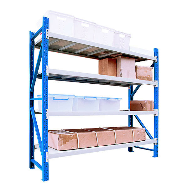 2m x 1 5m x 0 6m metal steel garage storage warehouse shelving racking 600kg ebay. Black Bedroom Furniture Sets. Home Design Ideas