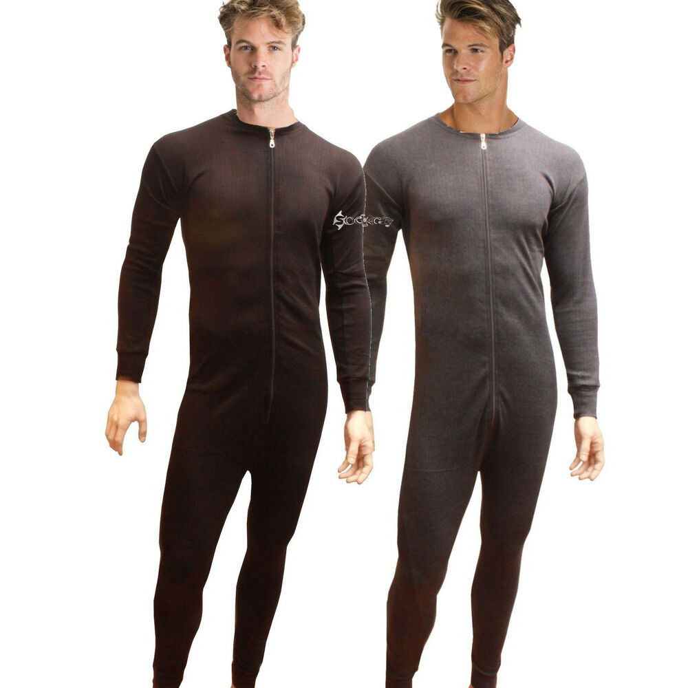 Mens Boys All In One Thermal Underwear Union Suit Onesie Baselayer ...