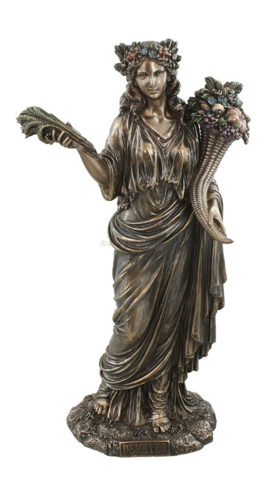 Demeter Greek Goddess of Harvest Bust Figurine Statue ...